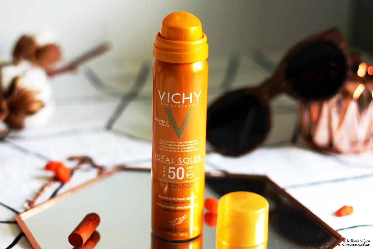 Elle part en vacances avec moi : la brume Ideal Soleil de Vichy