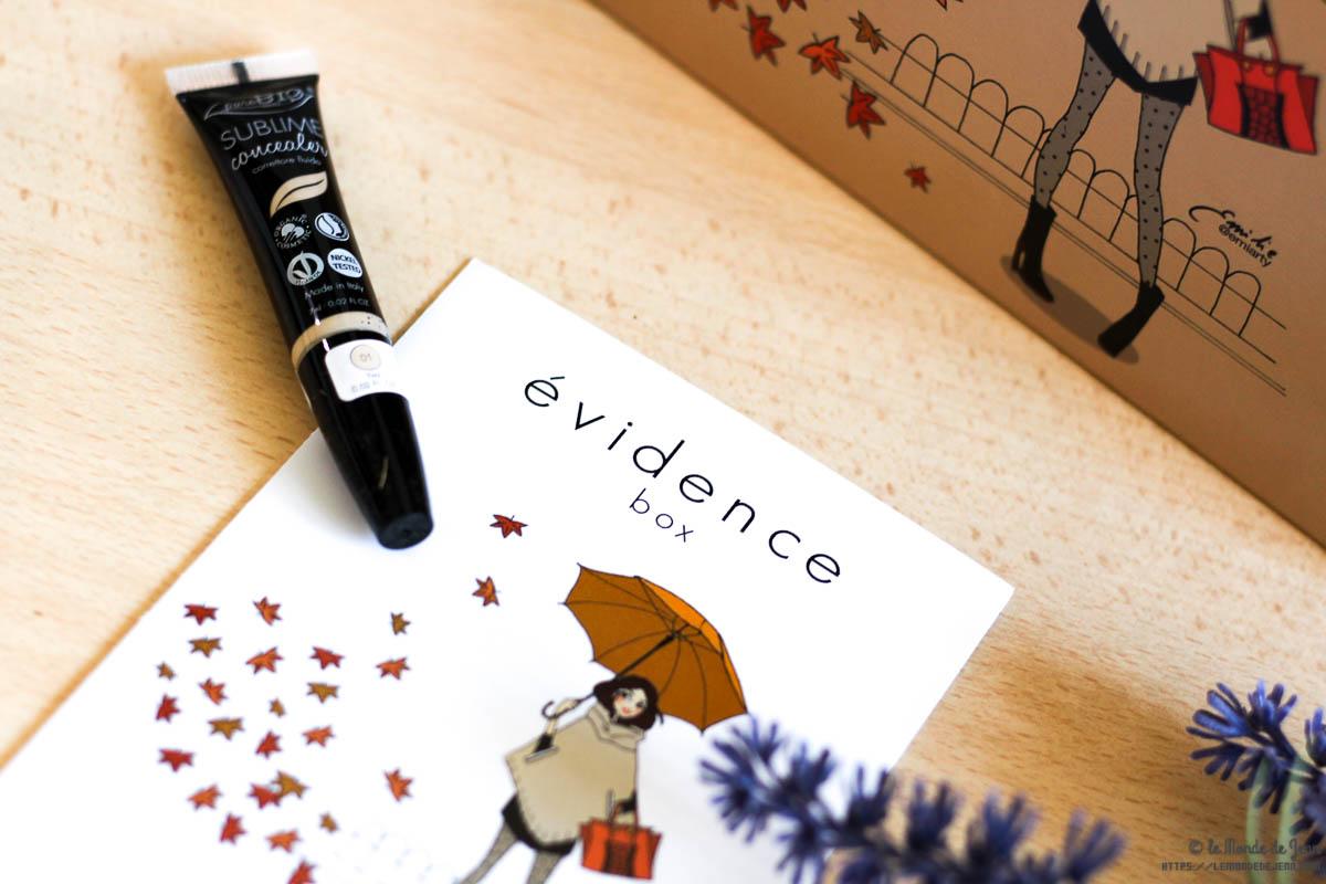 Bonjour l'Automne avec Box Evidence