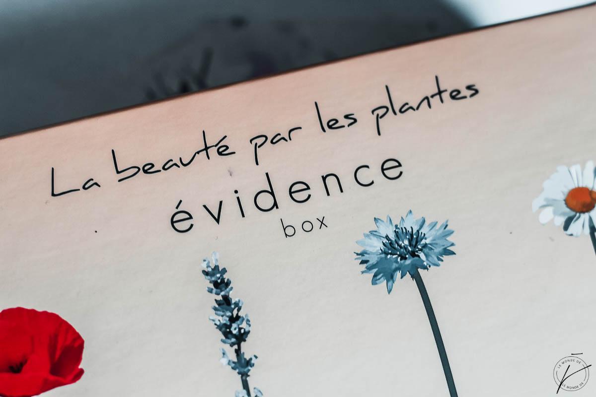 La Beauté par les plantes, Box Evidence, Avril 2018