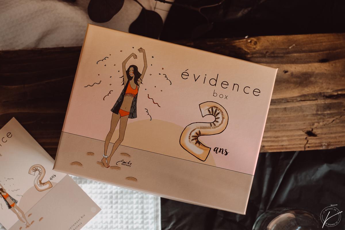 Box Evidence Août 2018 : 2 ans