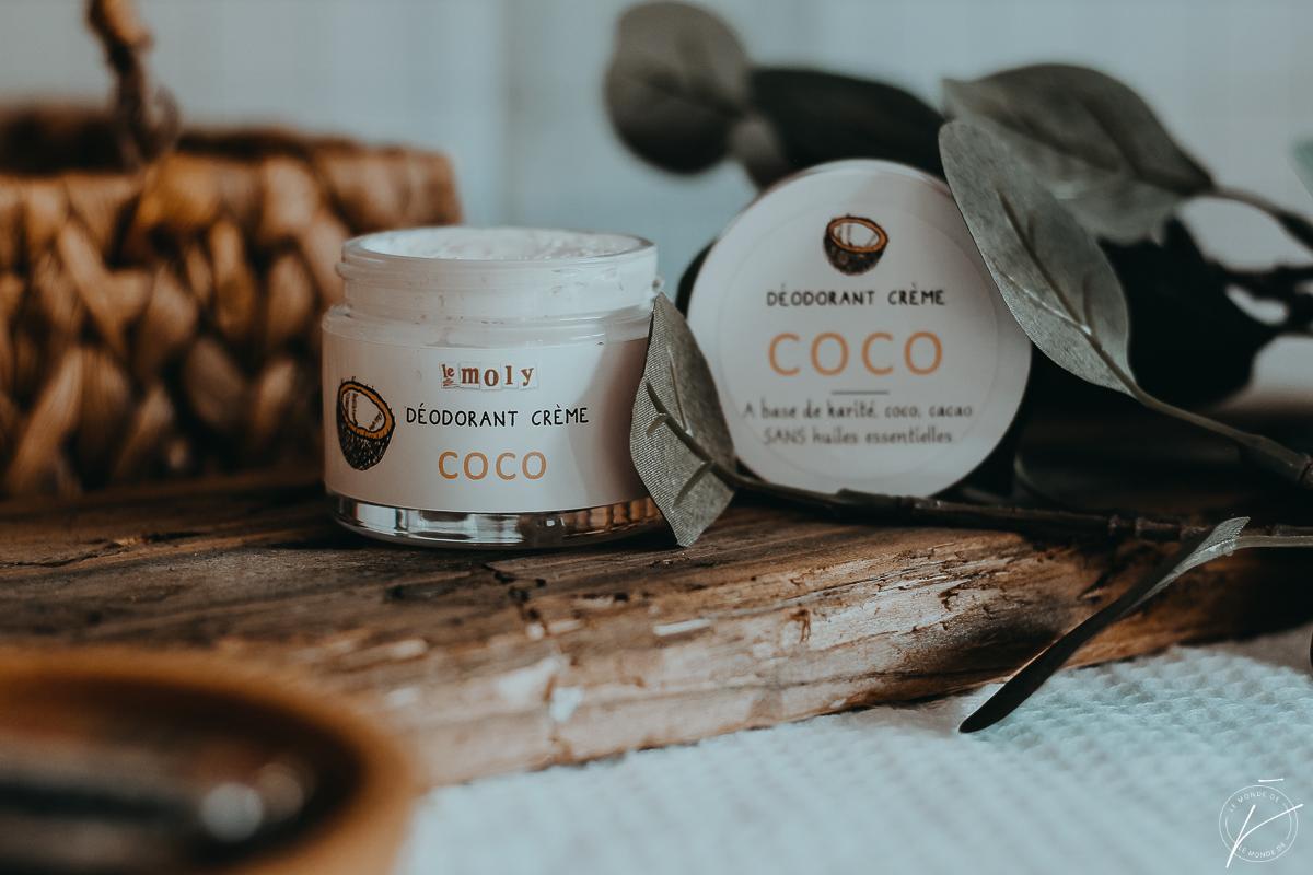 Déodorant crème à la noix de Coco, Le Moly : mon coup de cœur pour un déo naturel