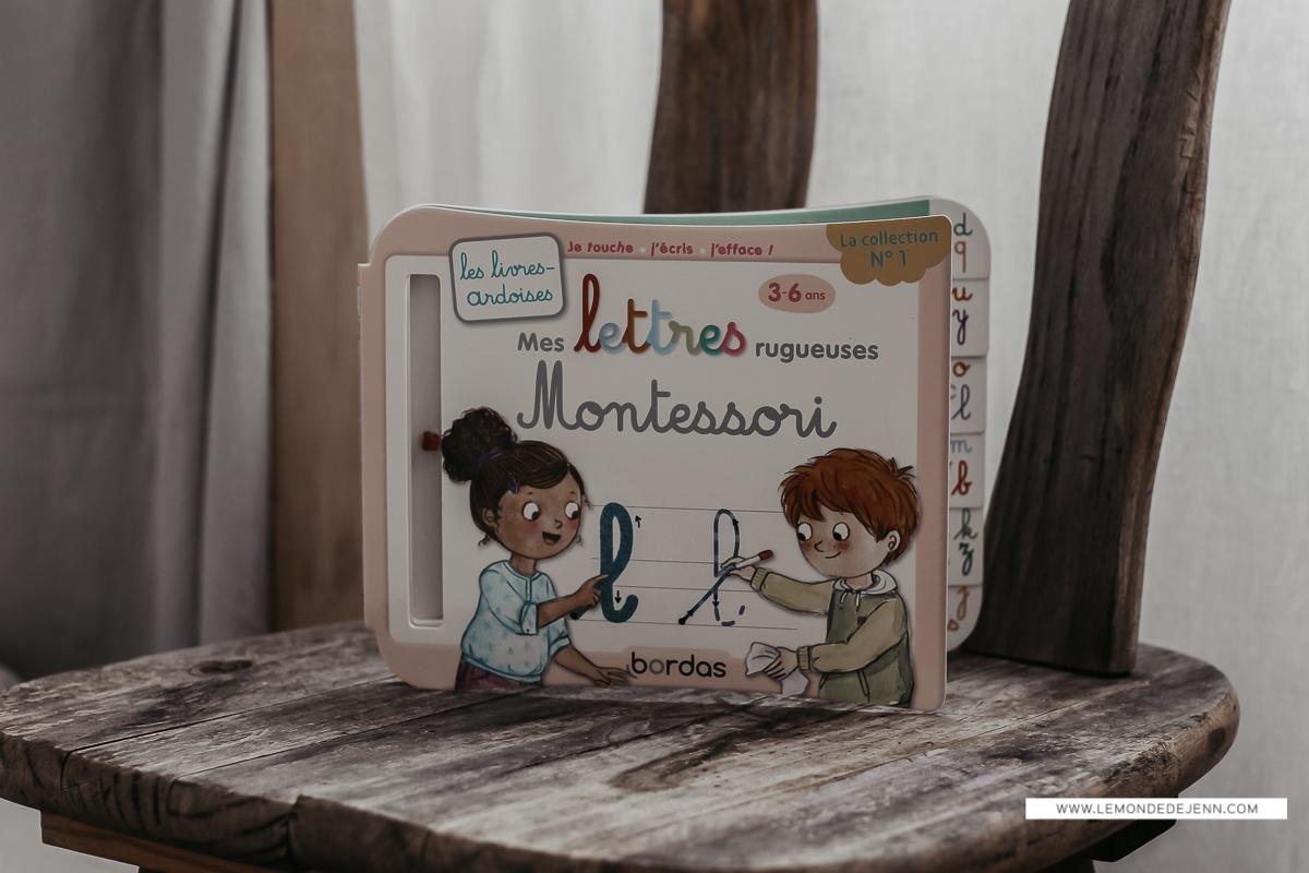 Les livres-ardoises Montessori (lettres et chiffres)