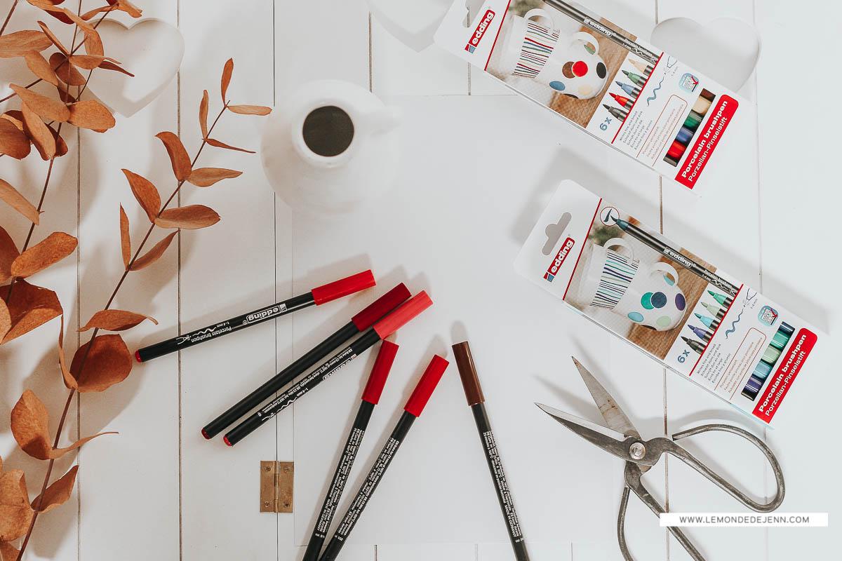 DIY : dessiner sur un vase, avec Edding