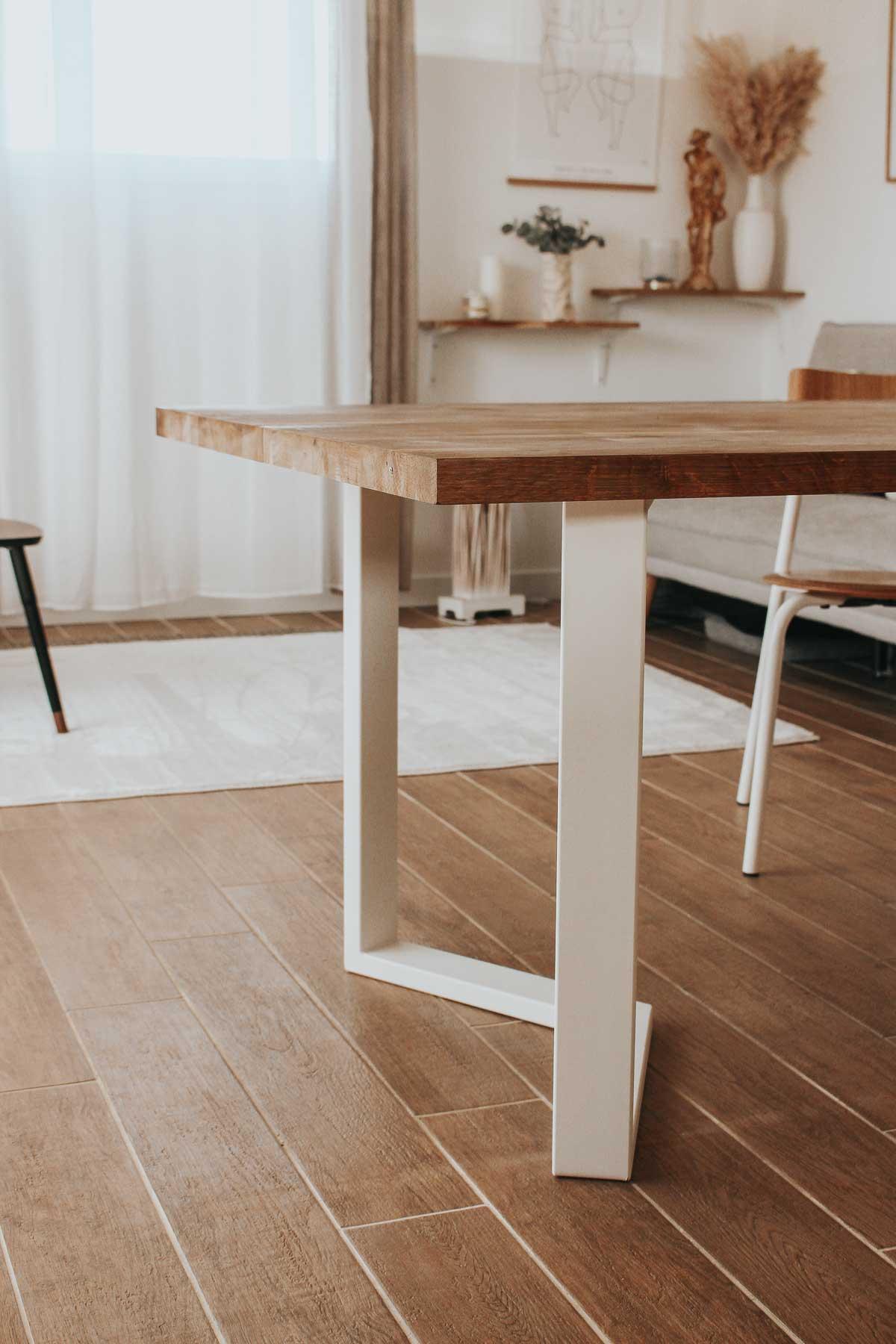 Une nouvelle table, grâce aux pieds La Fabrique des Pieds